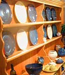 Display of Rackliffe Pottery