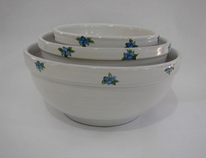 Blueberry Design Mixing Bowls